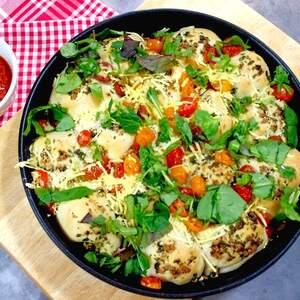 Party-Pan mit Pizzabällchen