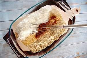 Zubereitung von Baked Oatmeal Blaubeer-Banane