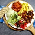 Schneller Gyros-Teller (vegan)