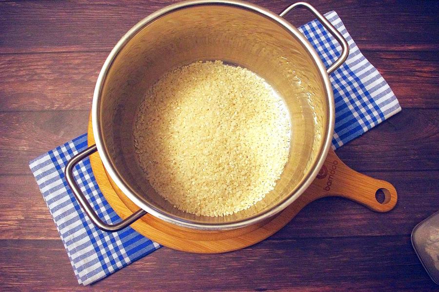 Zubereitung von veganem Milchreis