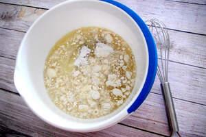 Zubereitung von Vanillerührkuchen mit Reis-Krispies