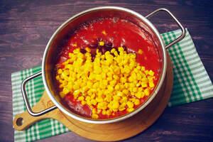 Zubereitung von 5-Minuten Chili sin Carne