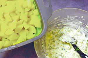 Zubereitung von einfachem Kartoffelsalat