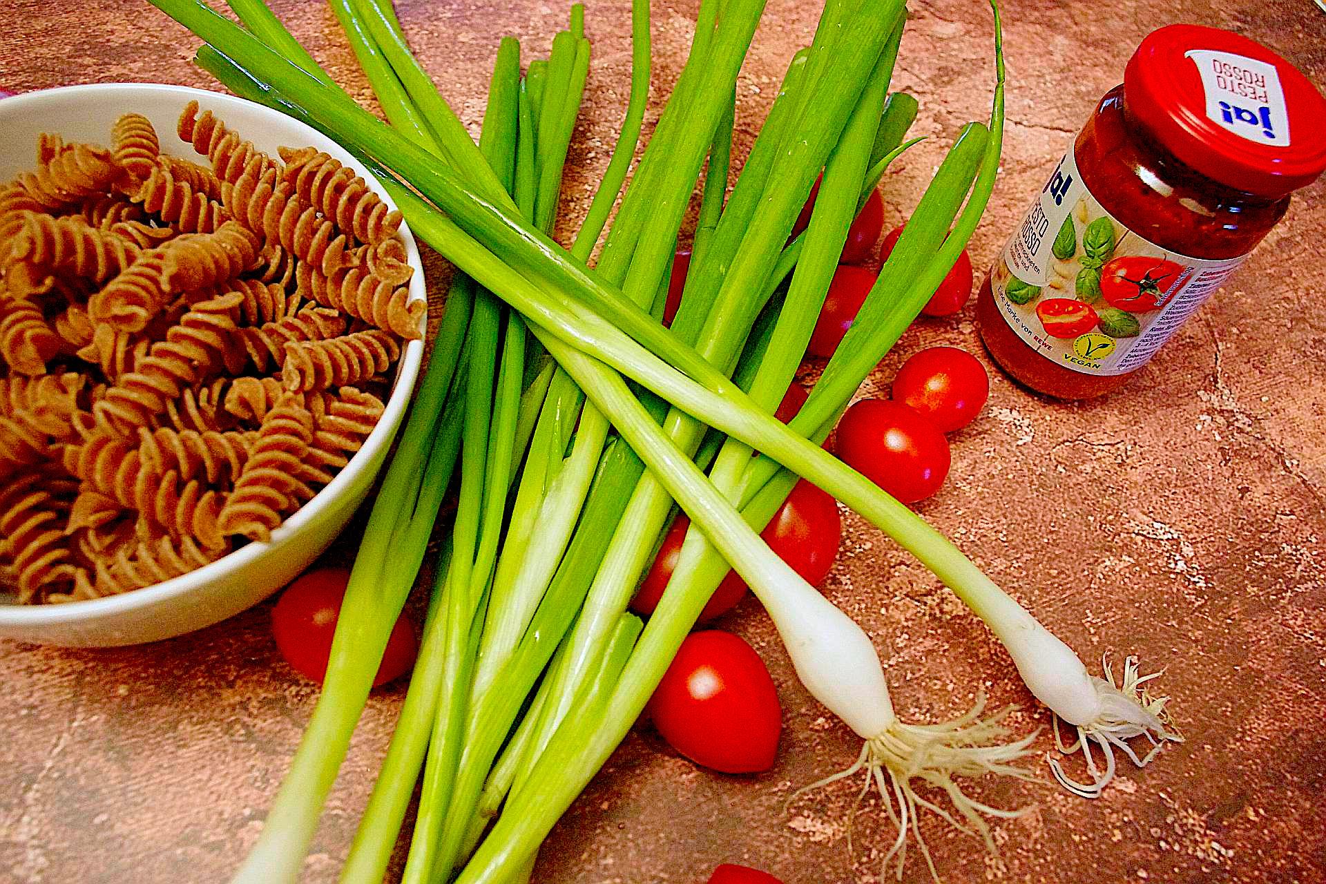 Zutaten für Italienischen Nudelsalat