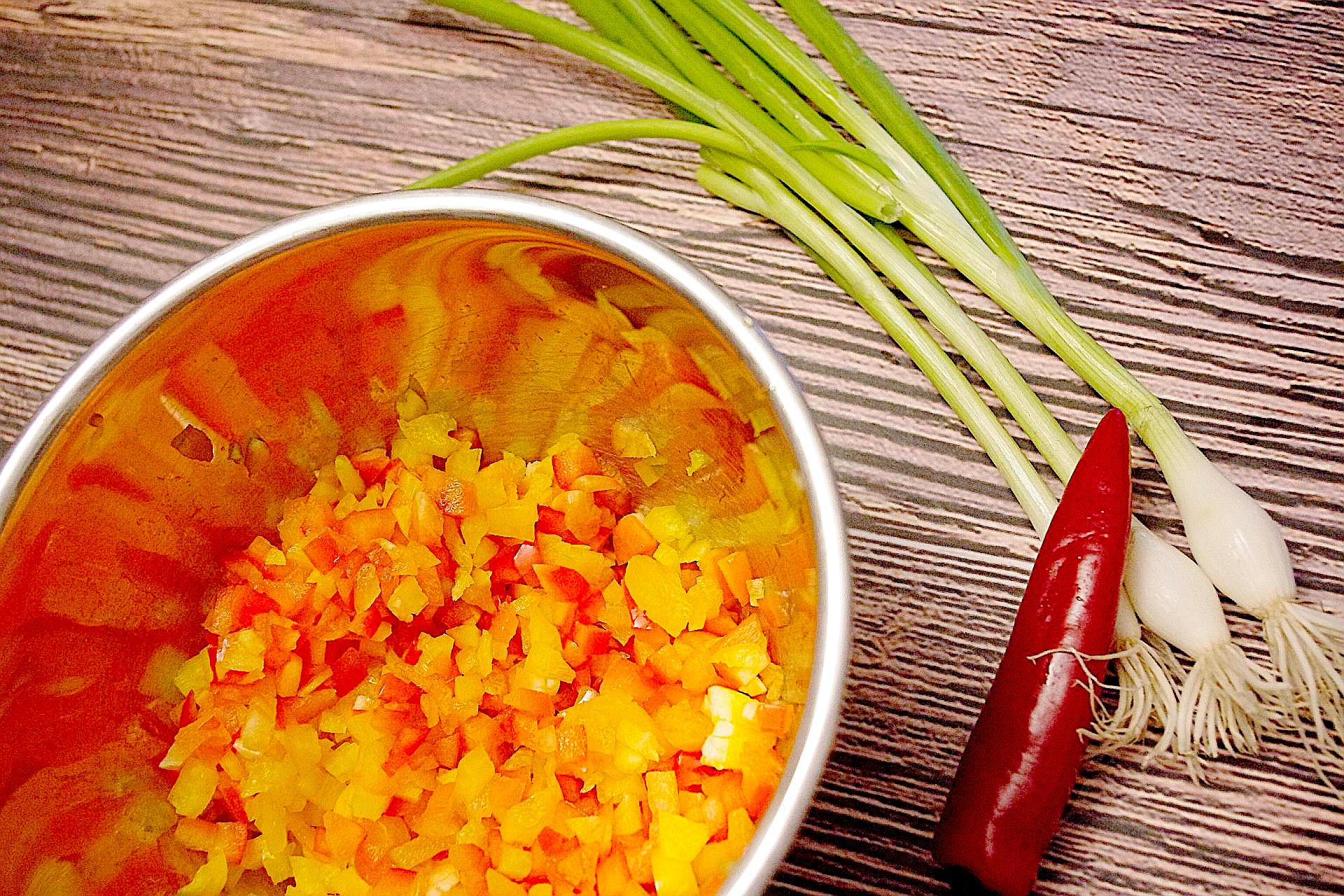 Zubereitung von pikantem Coucous-Salat
