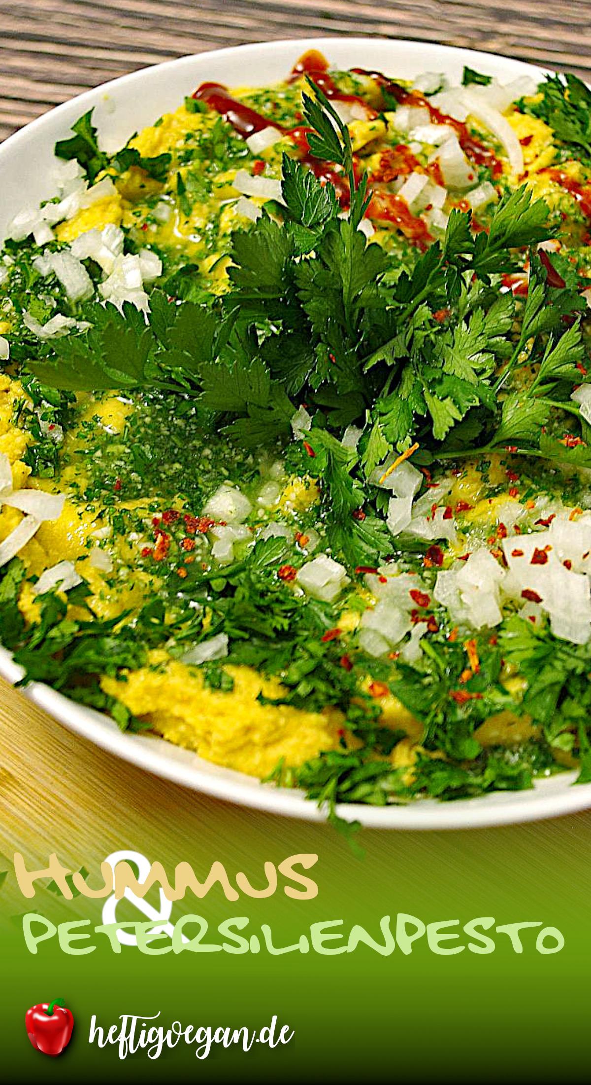 Hummus mit Petersilienpesto auf Pinterest