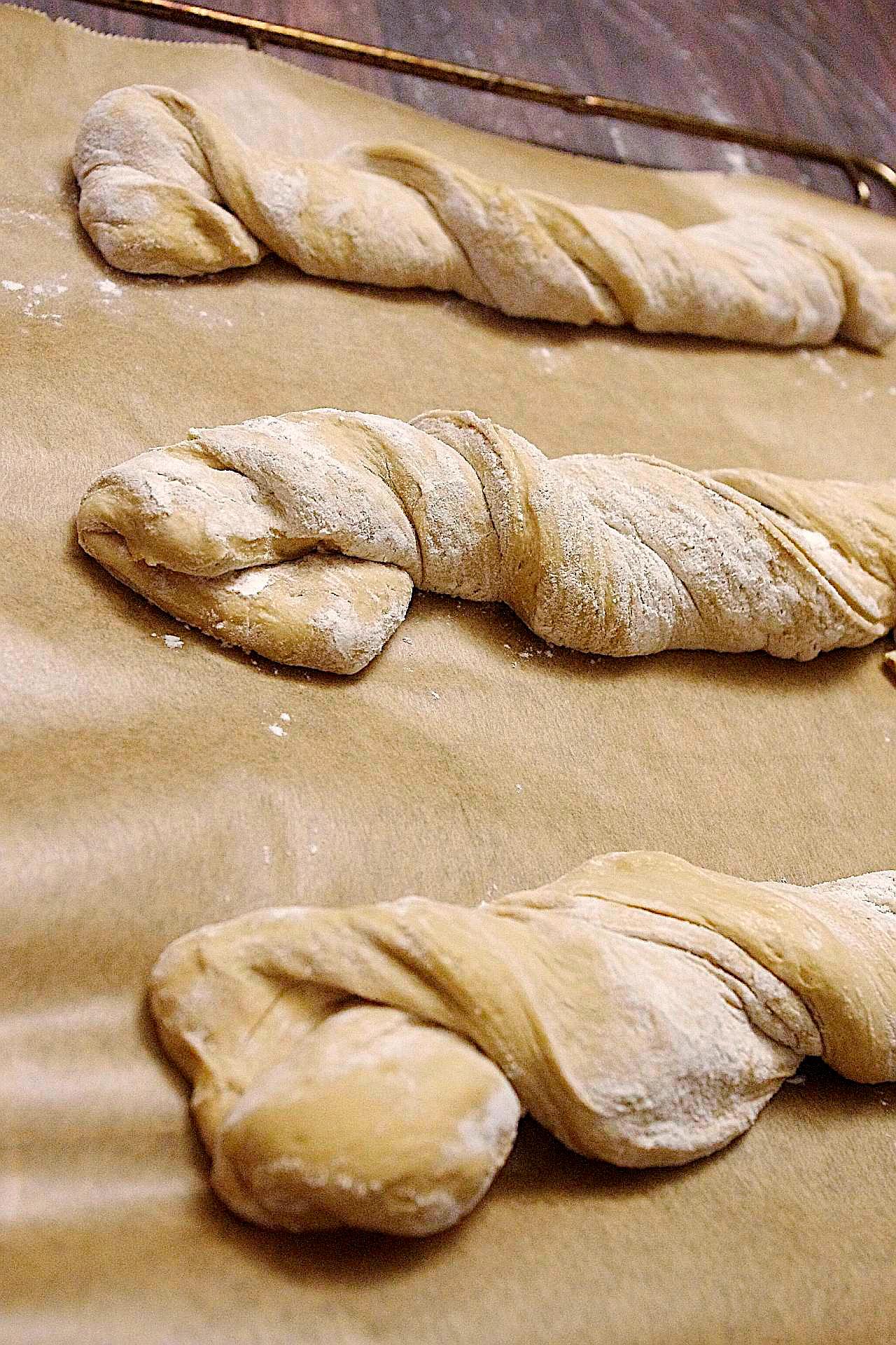 Zubereitung von rustikalem Dinkelbaguette