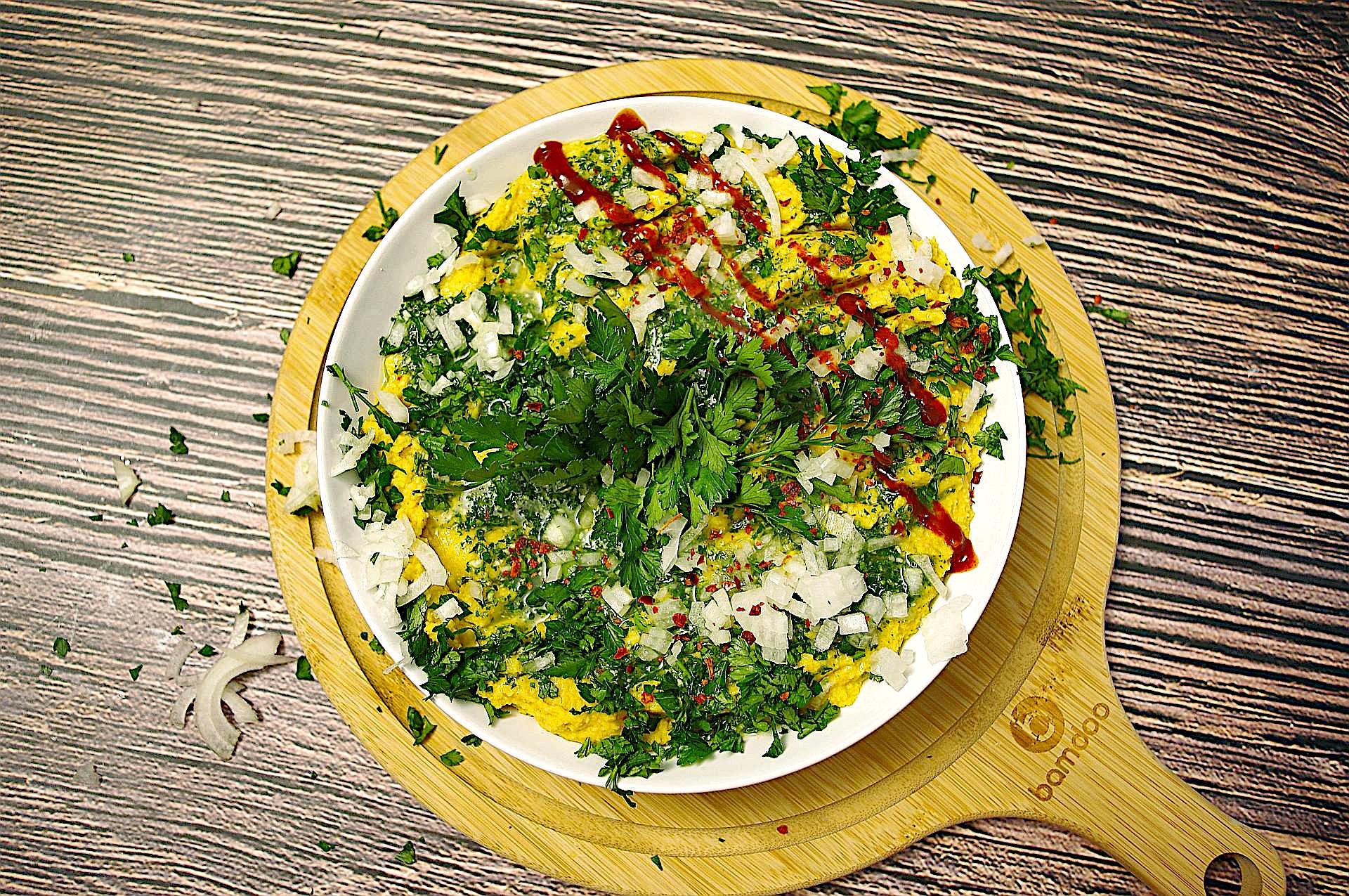 Hummus mit Petersilienpesto
