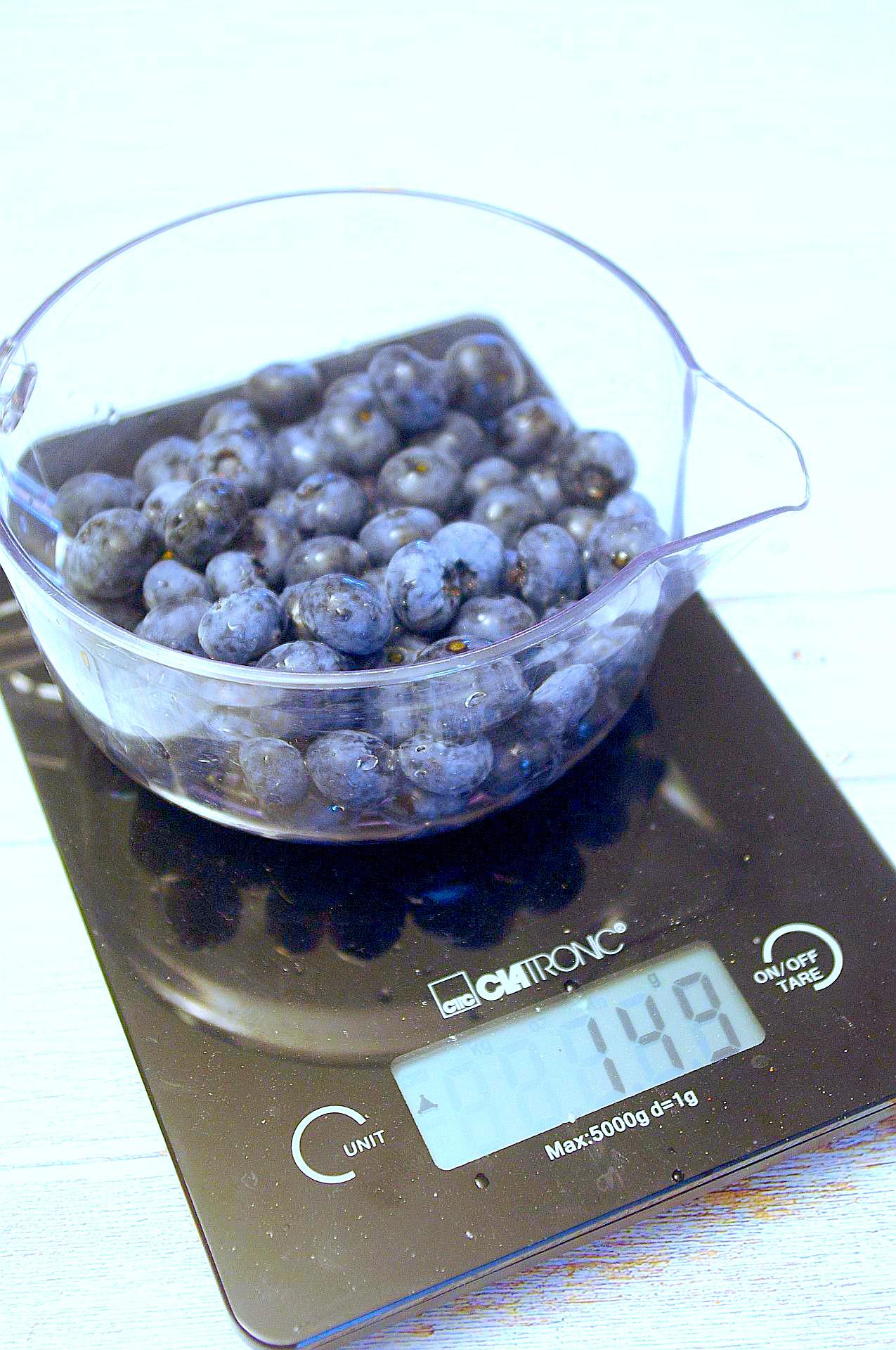 Zubereitung von Blaubeermuffins