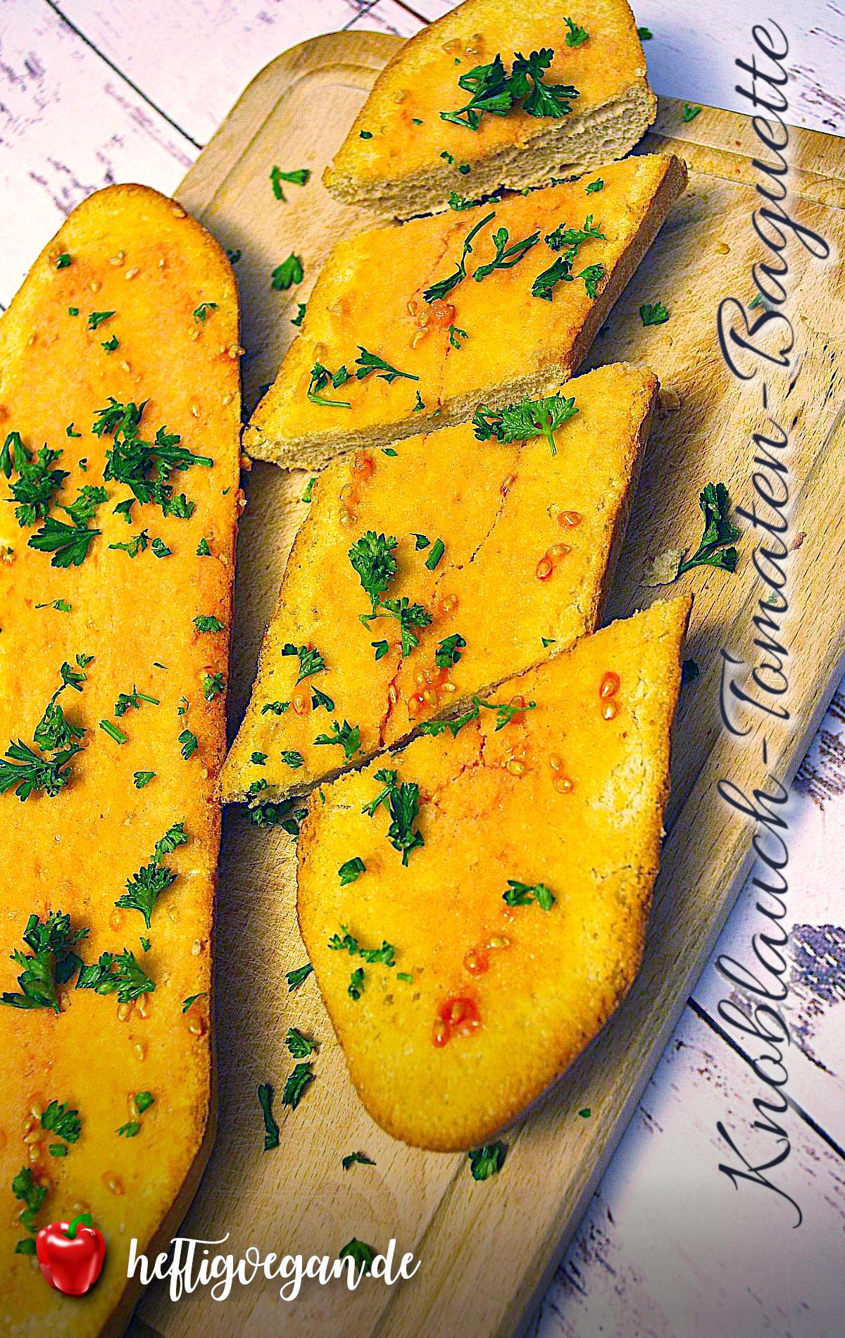 Knoblauch-Tomaten-Baguette auf Pinterest