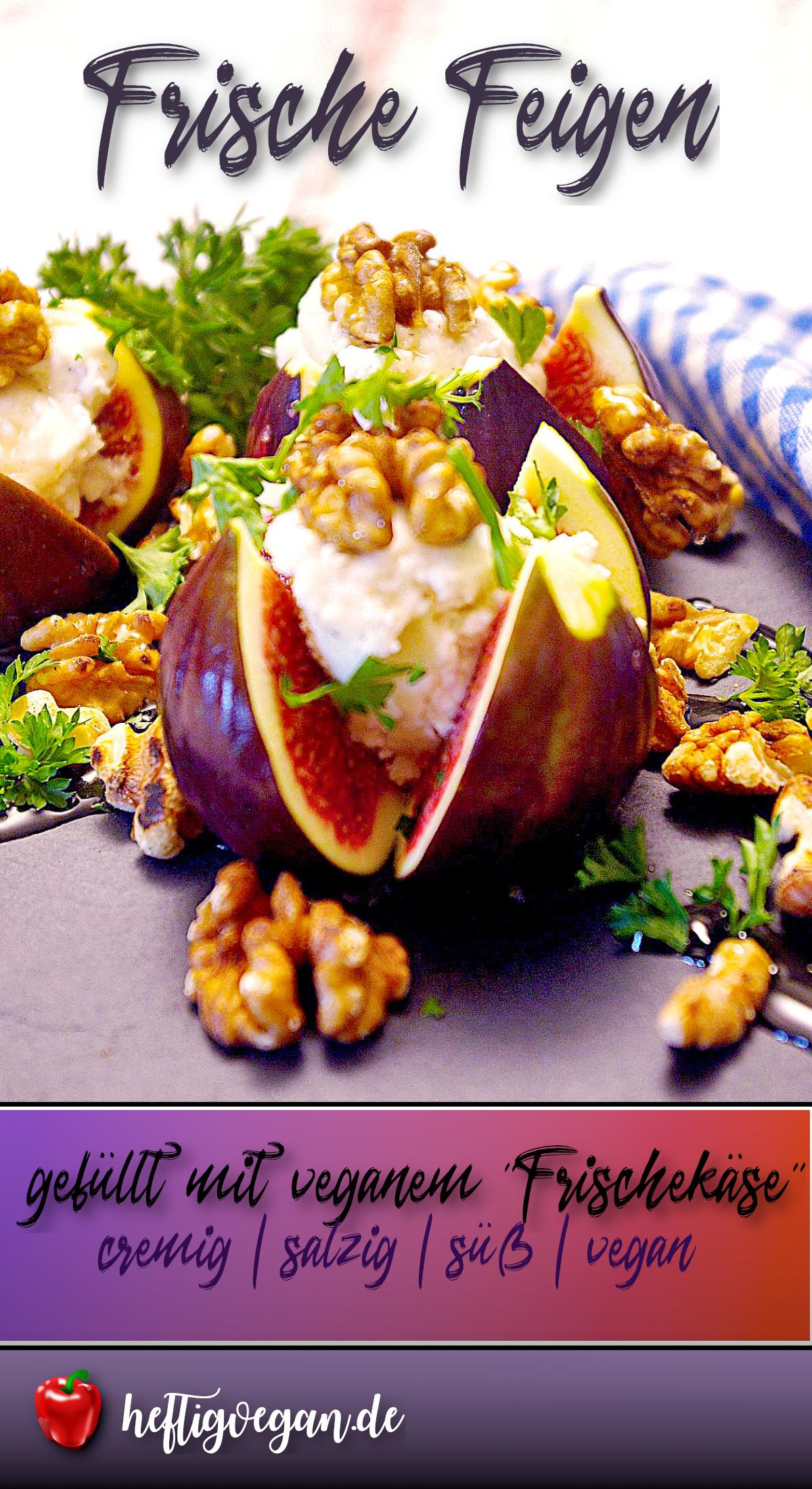 Frische Feigen mit Frischkäsecreme auf Pinterest
