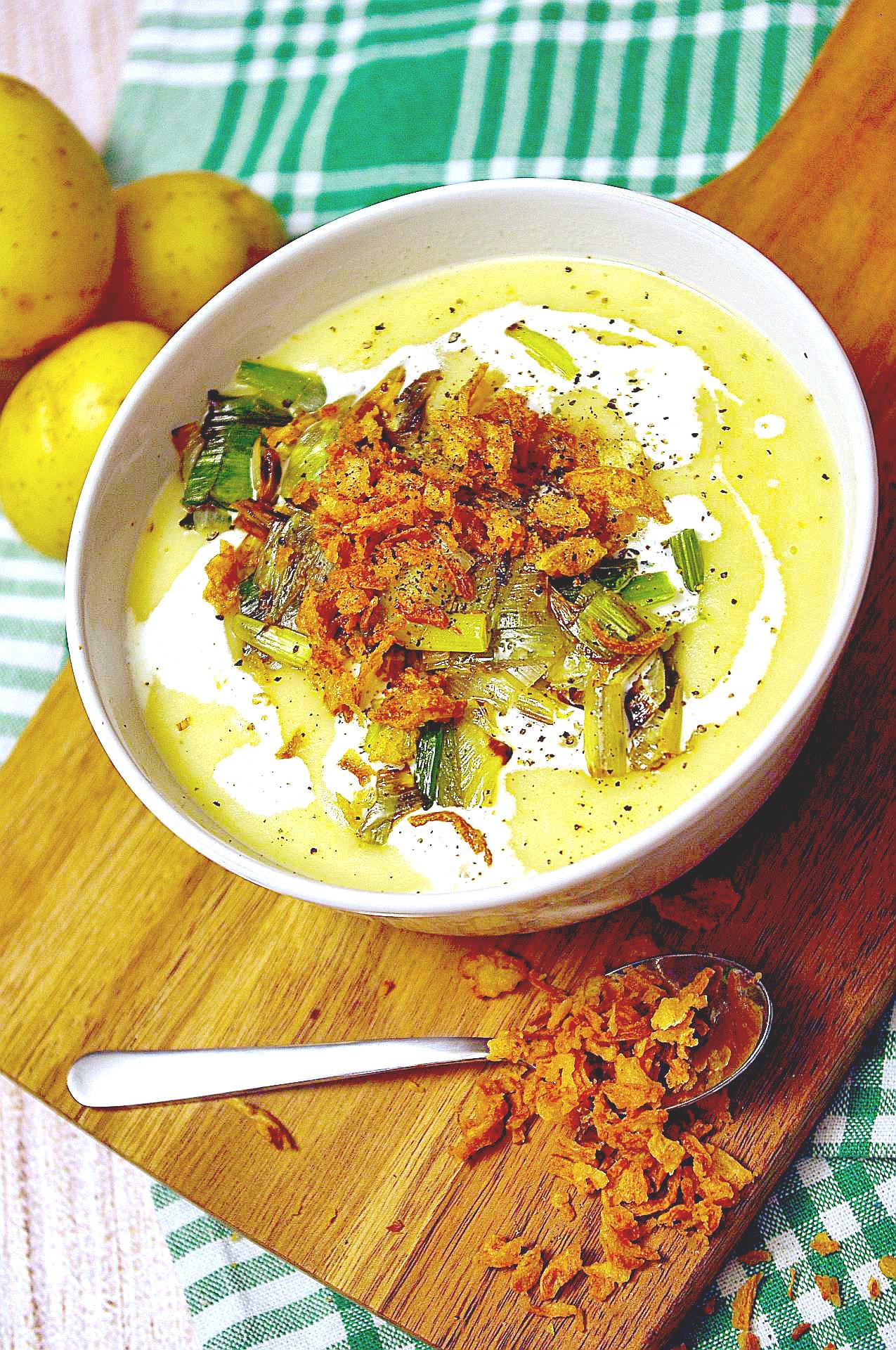 Cremige Kartoffel-Lauch-Suppe