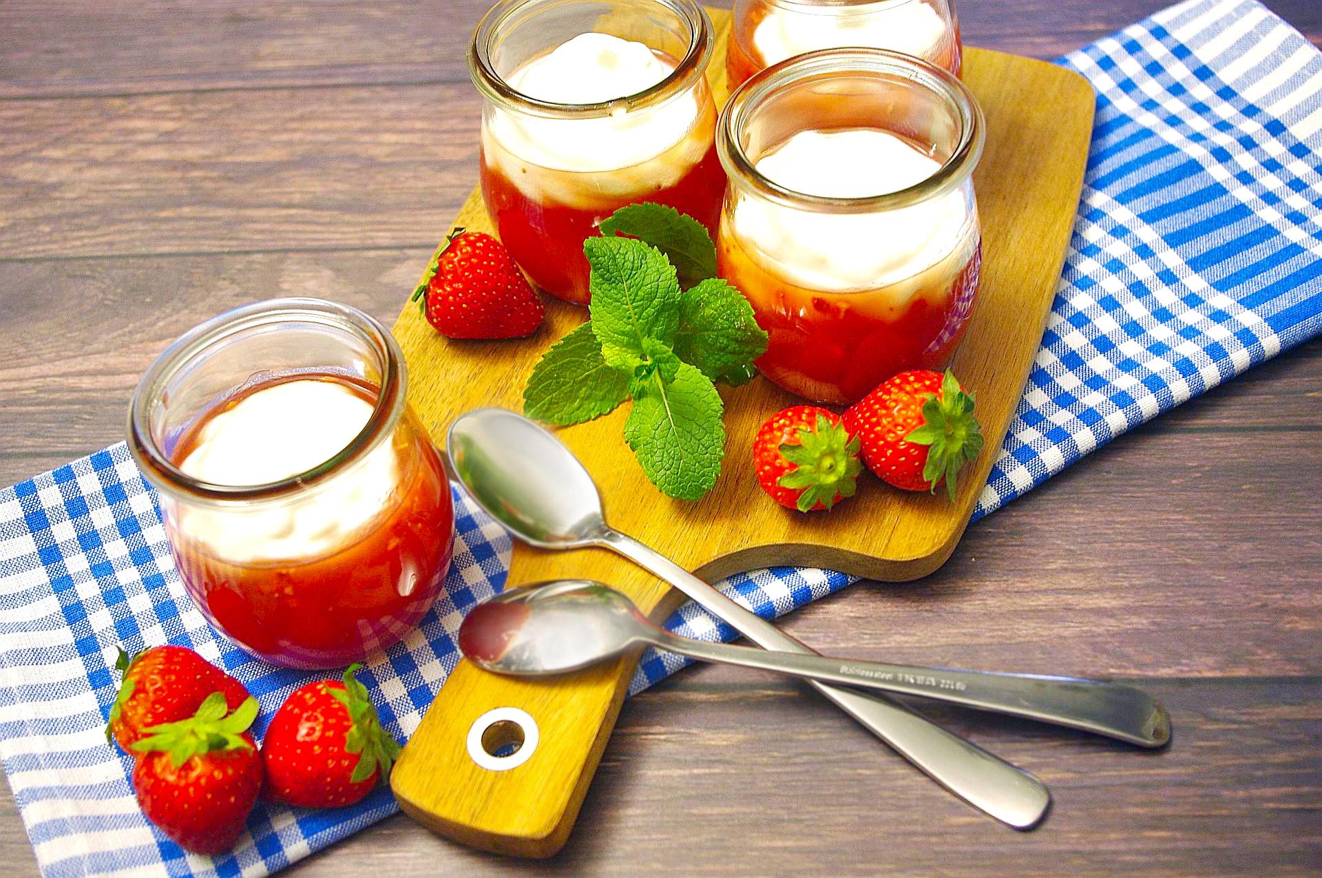 SOS Erdbeer-Dessert
