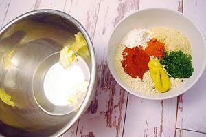Zubereitung von veganen Fleischbällchen