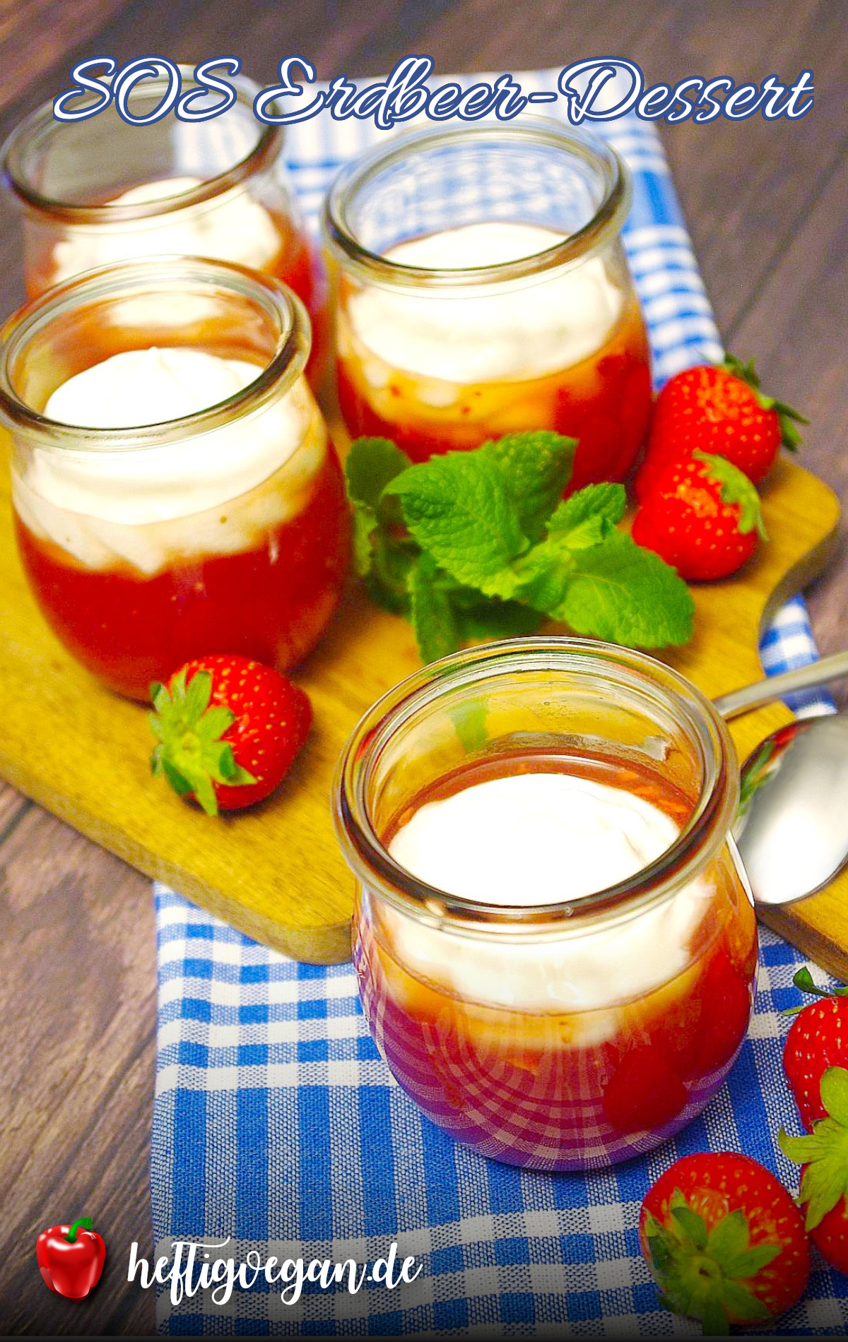 SOS Erdbeer-Dessert auf Pinterest