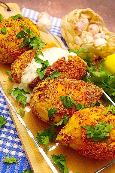 Chili-Ofensüßkartoffeln