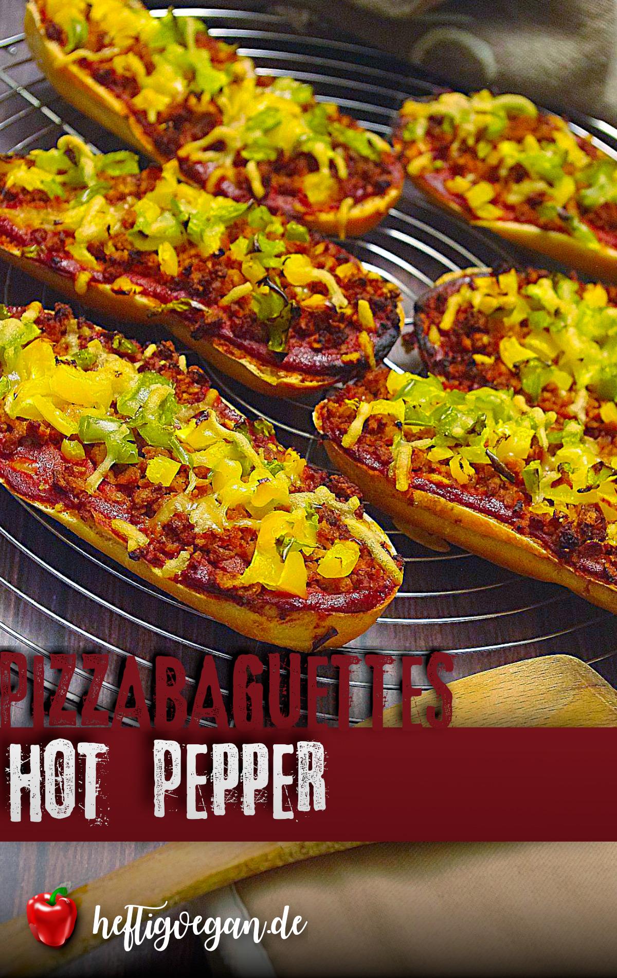 Pizzabaguettes Hot Pepper auf Pinterest