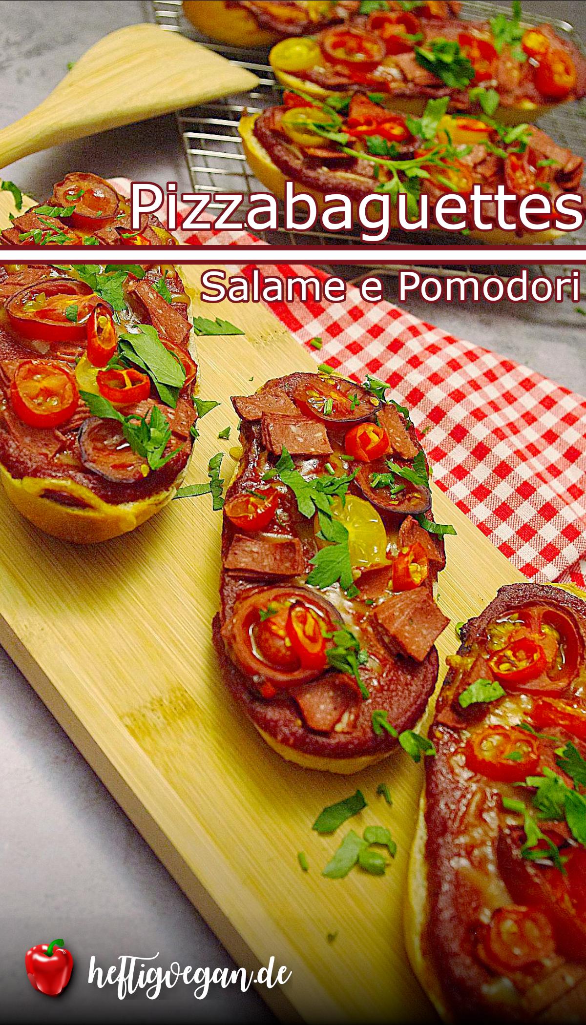 Pizzabaguettes Salame e Pomodori auf Pinterest