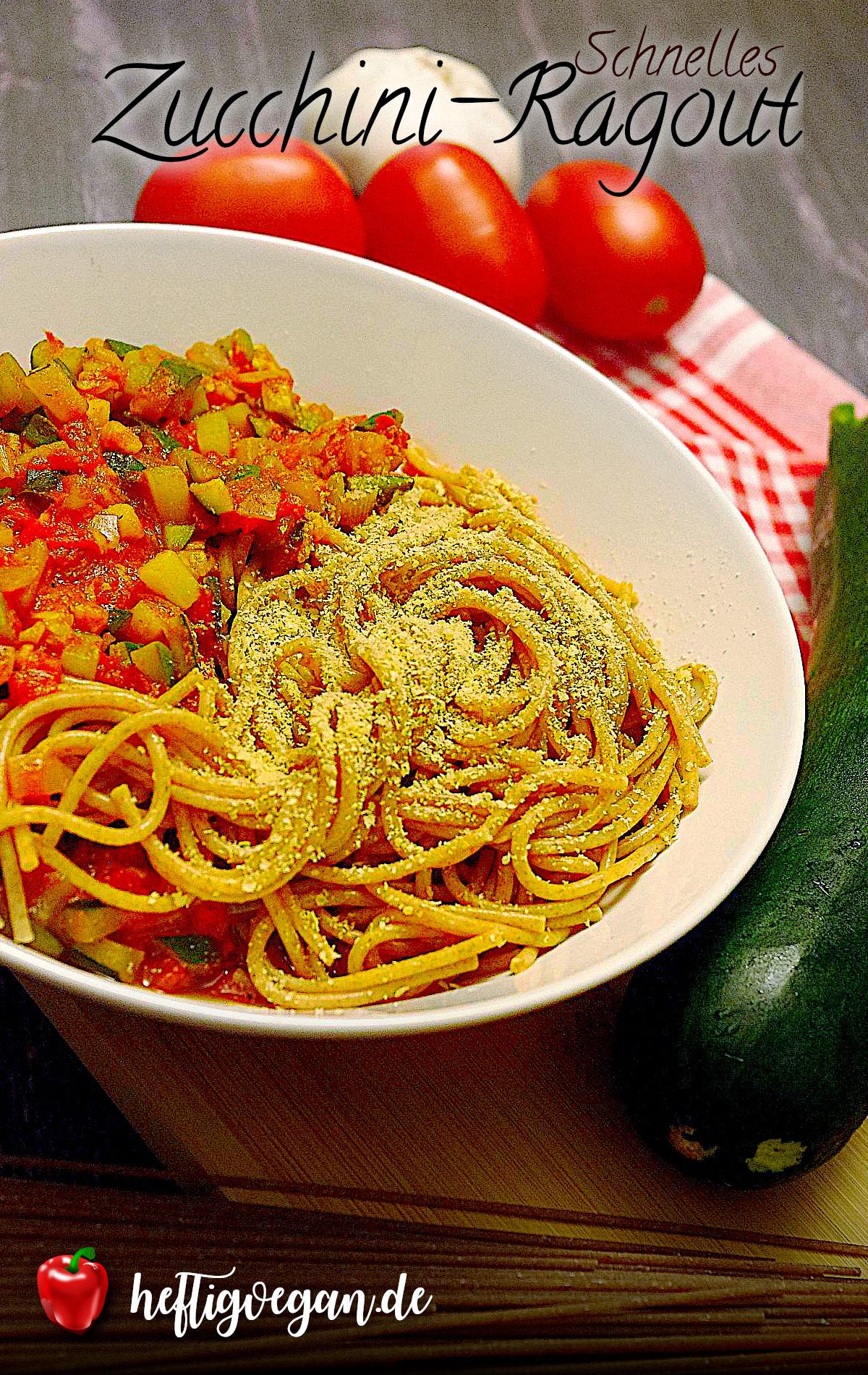 Schnelles Zucchini-Ragout auf Pinterest