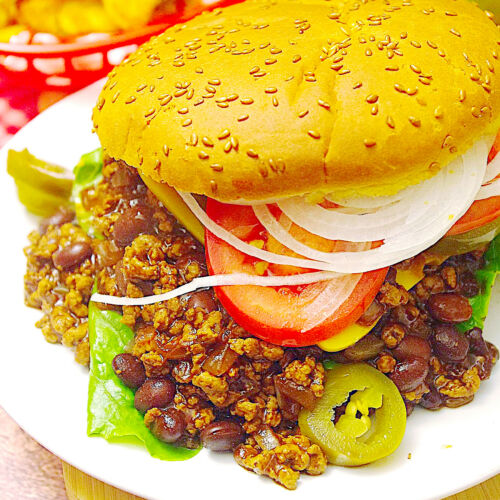 Lowfat Chili-Cheese-Burger