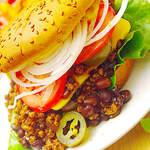 Chili-Cheese-Burger, Vegan, LowFat