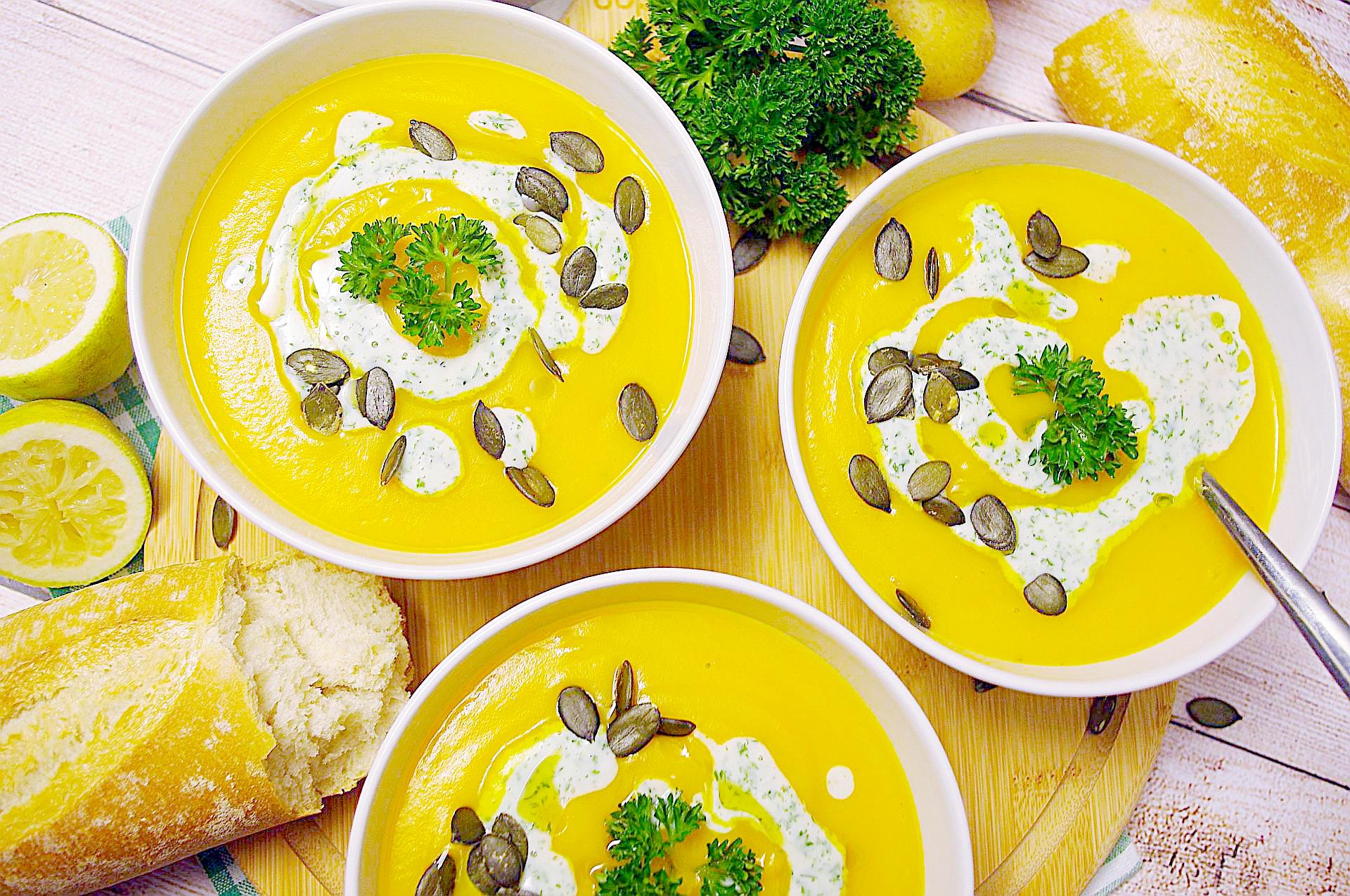 Kartoffel-Kürbiscreme-Suppe