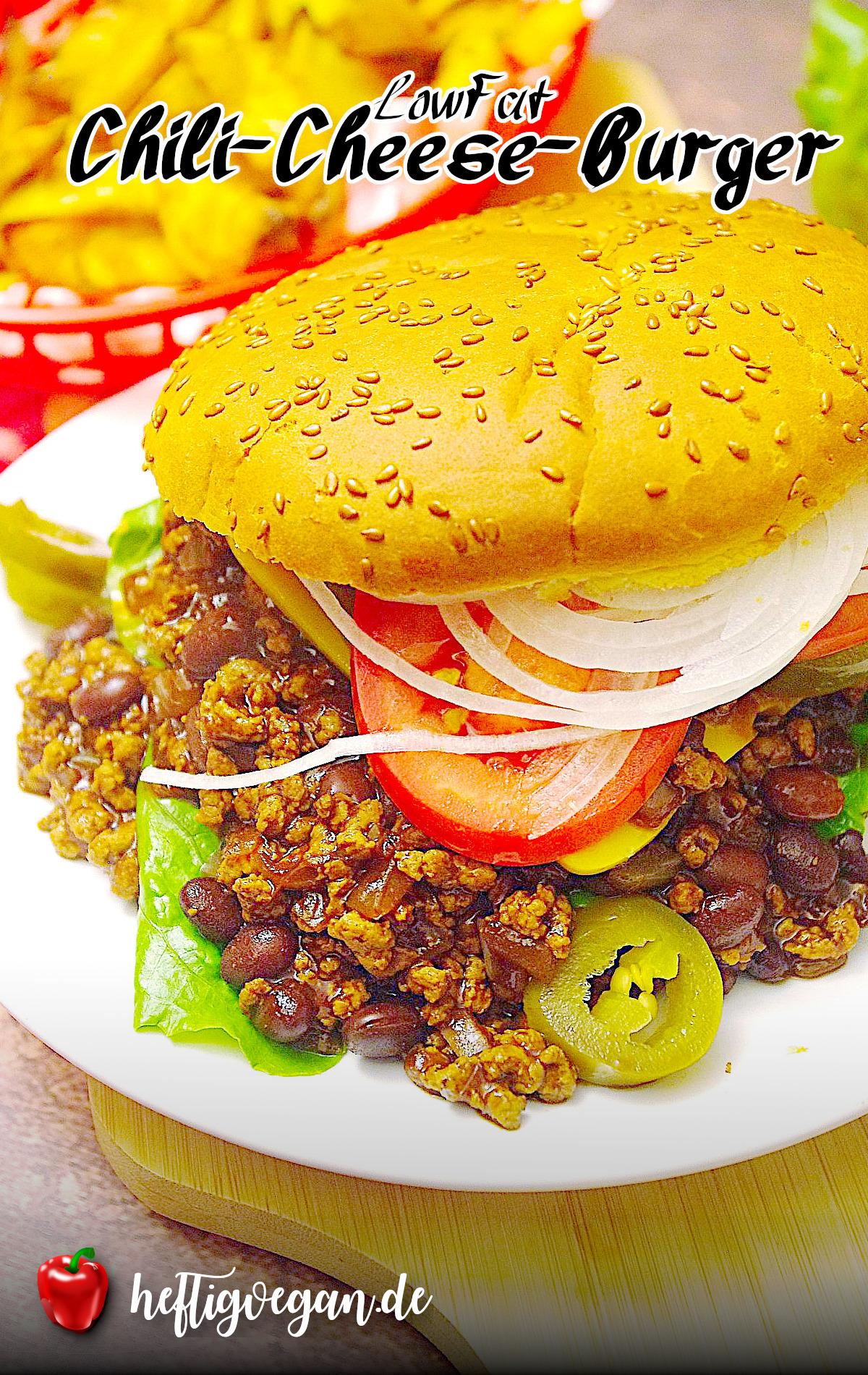 Chili-Cheese-Burger, Vegan, LowFat auf Pinterest