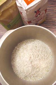 Zubereitung des Roggen-Vollkornbatzen