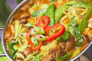 Laksa (Malaysische Chili-Suppe)