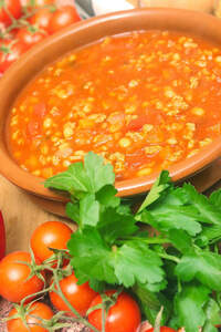 Serbische Bohnensuppe, Vegan
