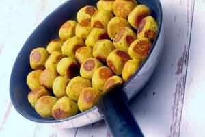 Zubereitung von zarten Falafel
