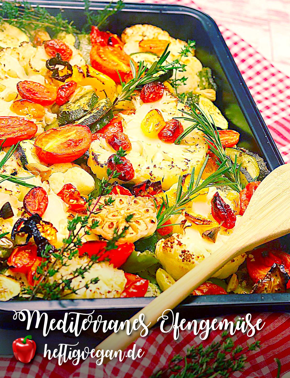 Mediterranes Ofengemüse auf Pinterest