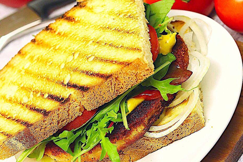 Veganes Schnitzelsandwich (Voschau)