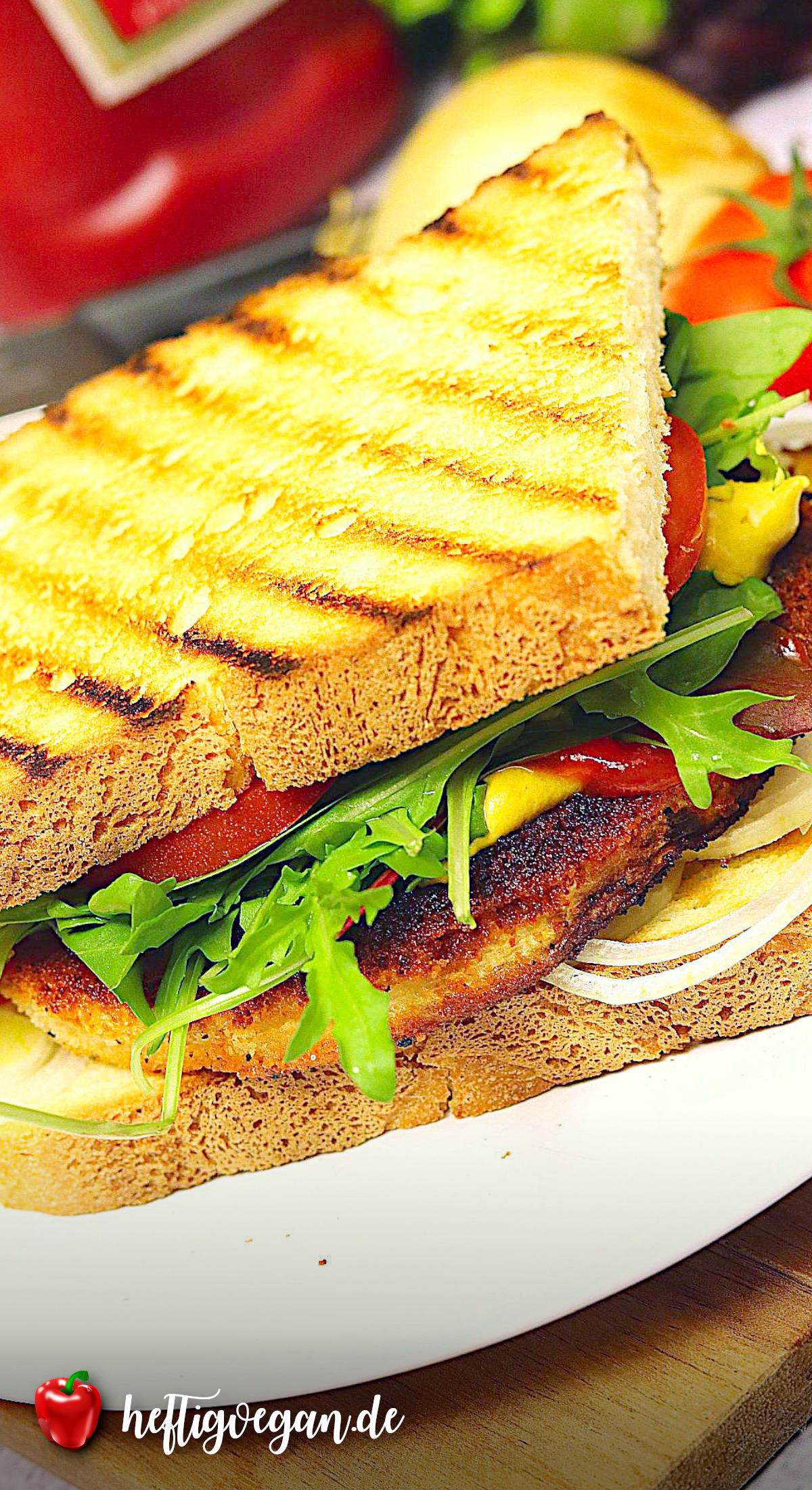Veganes Schnitzelsandwich auf Pinterest
