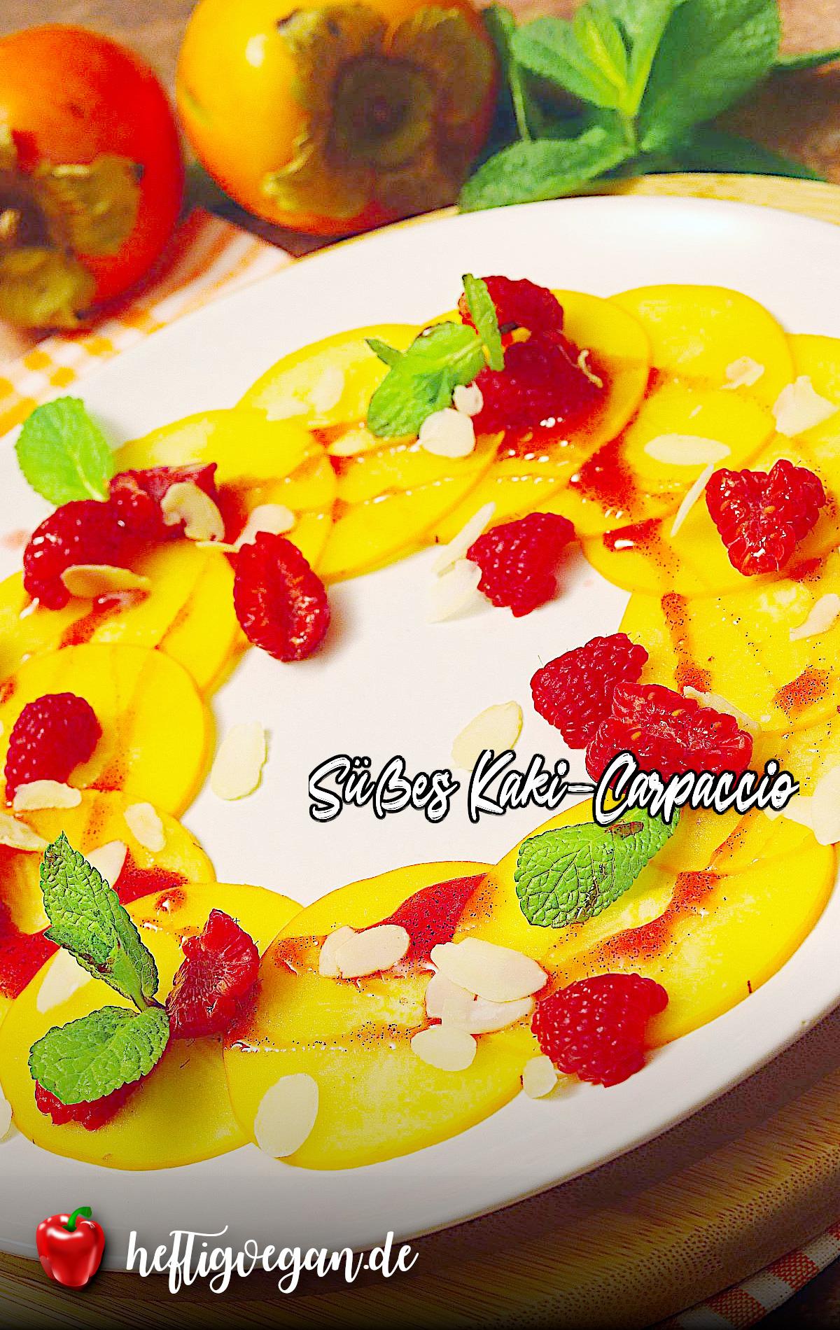 Süßes Kaki-Carpaccio auf Pinterest