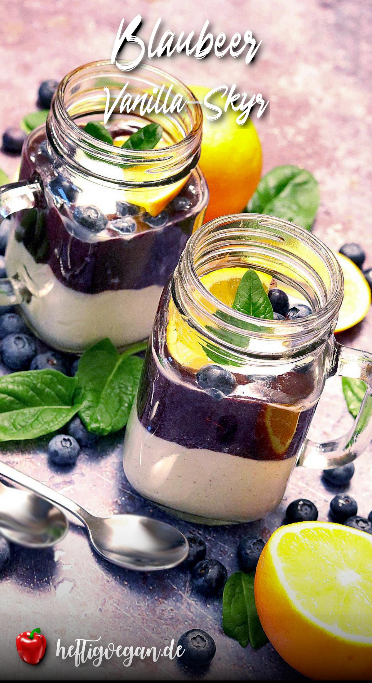 Veganer Blaubeer-Vanilla-Skyr auf Pinterest