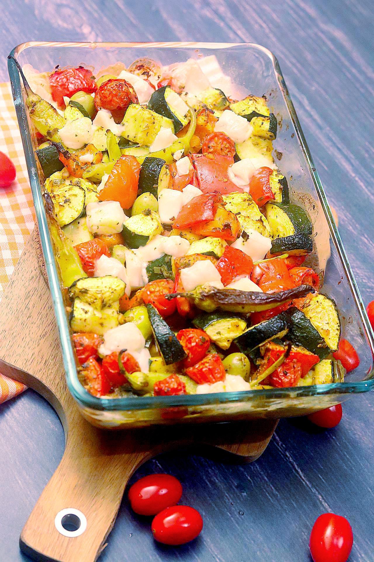 Griechischer Auflauf, griechisches Ofengemüse, vegan