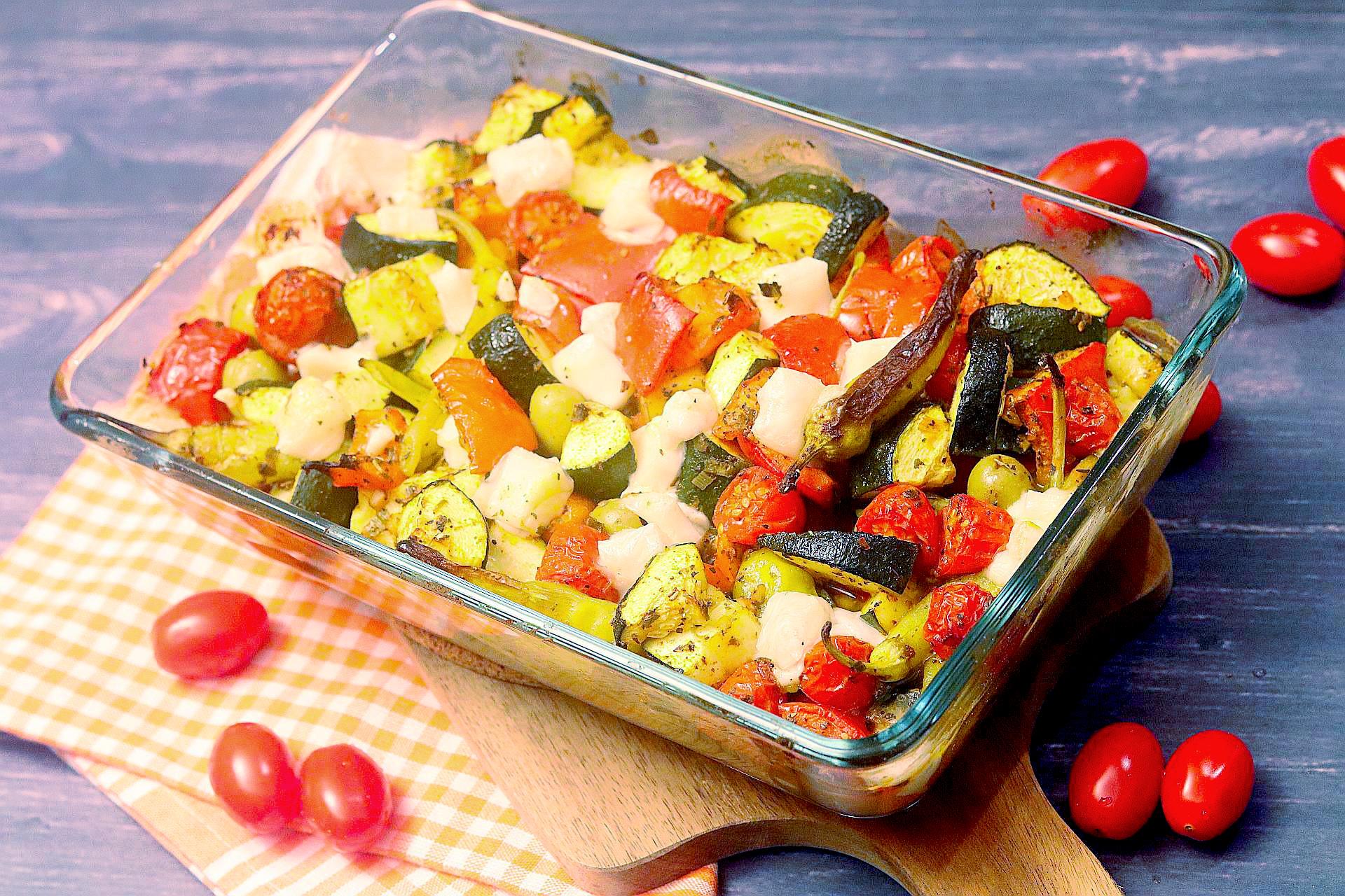 Griechischer Auflauf, veganes griechisches Ofengemüse