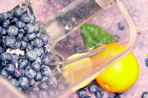 Zubereitung von Blaubeer-Vanilla-Skyr