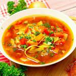 Paprika-Kohl-Suppe, vegan und herzhaft