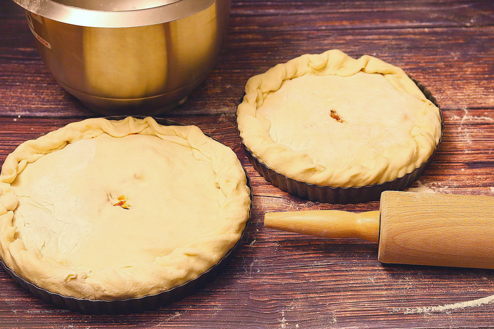 Pastete formen, Empanada de Pimientos in Quicheformen