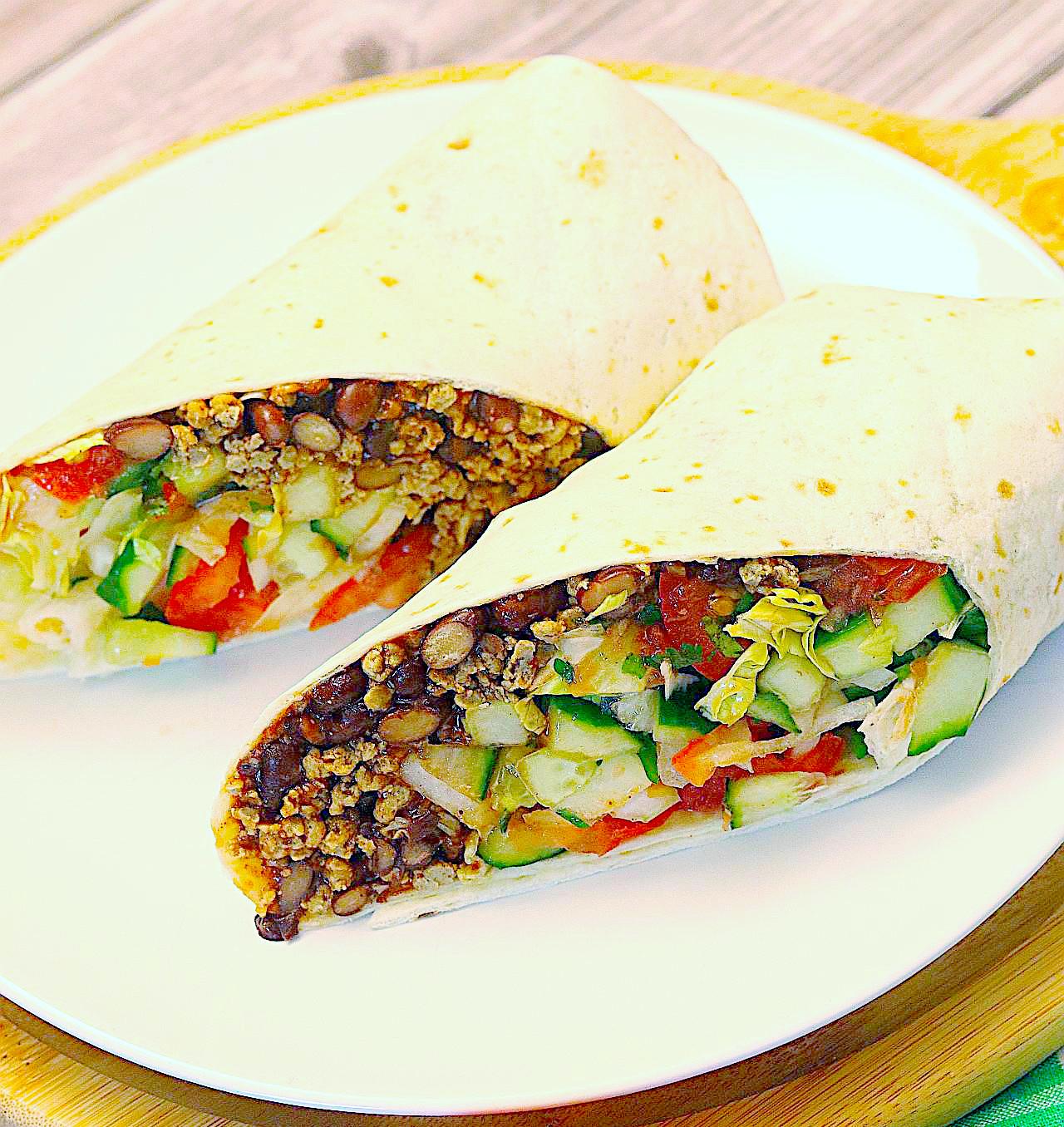 Vegane Frühstücks-Burritos