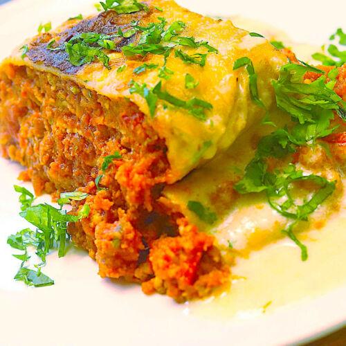 Vegane Lasagne-Rolle