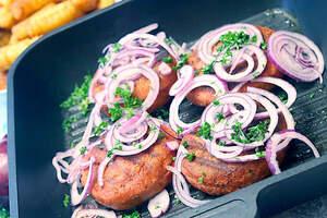 Schnelle vegane Bifteki