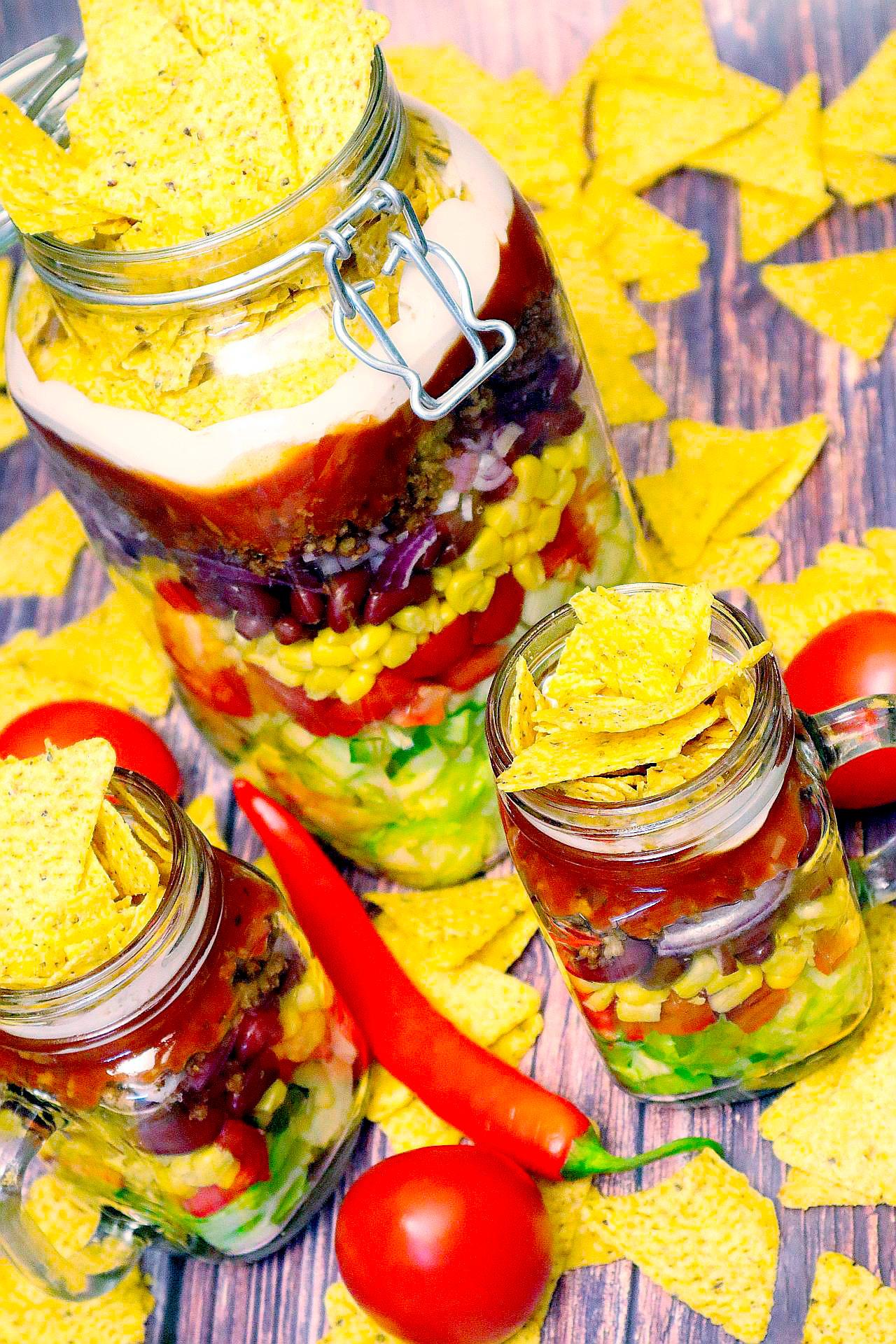 Veganer Nacho-Salat