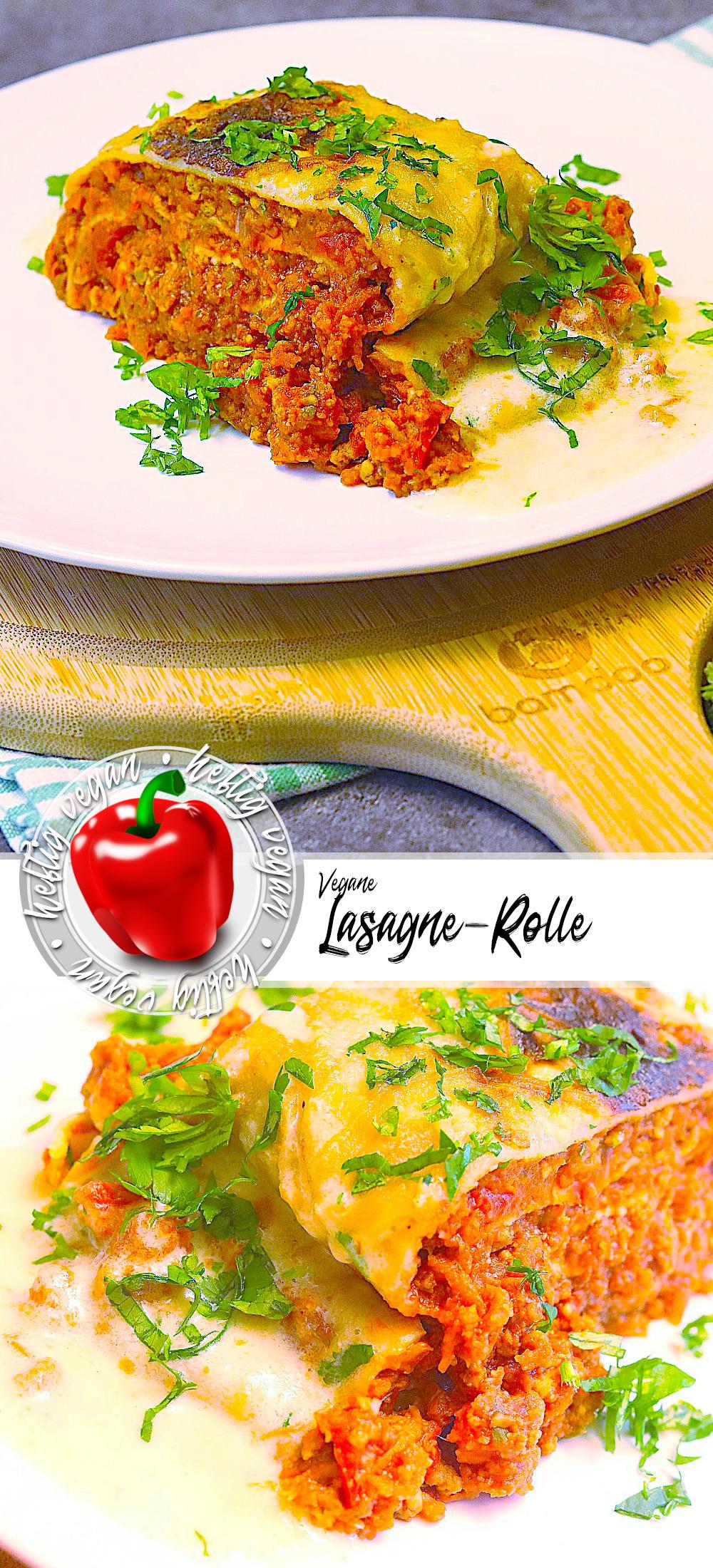 Vegane Lasagne-Rolle auf Pinterest