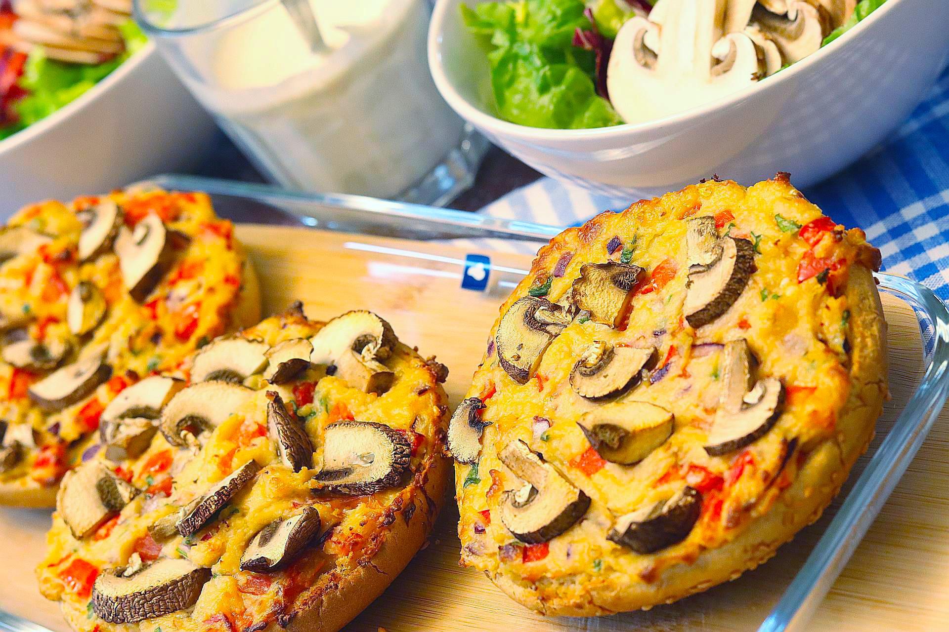 Pizzaburger oder Partypizzen