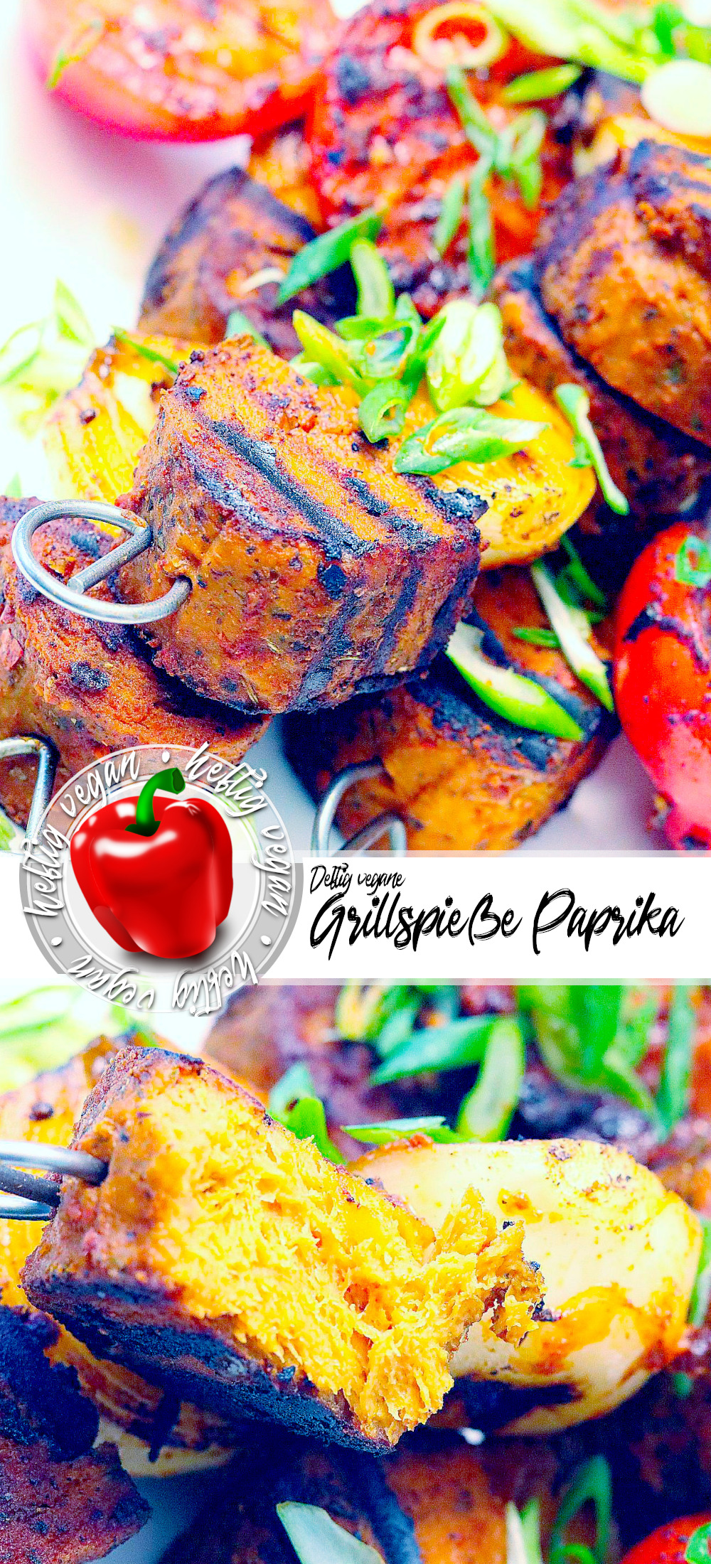 """Vegane Grillspieße """"Paprika"""" auf Pinterest"""