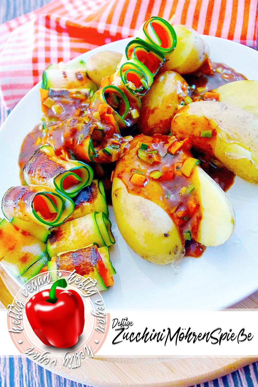 Deftige Zucchini-Möhren-Spieße auf Pinterest