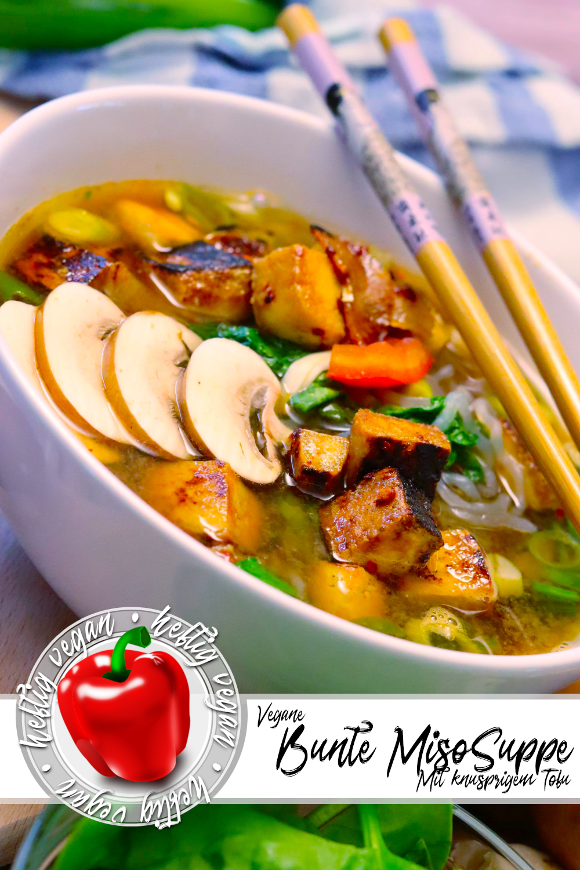 Bunte Miso-Suppe mit Tofu (Pinterest)